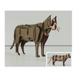 3d animals laser cutting