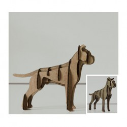 puzzle 3d animals laser cutting
