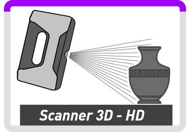 scansione 3d ad alta definizione per arte, artigianato, design