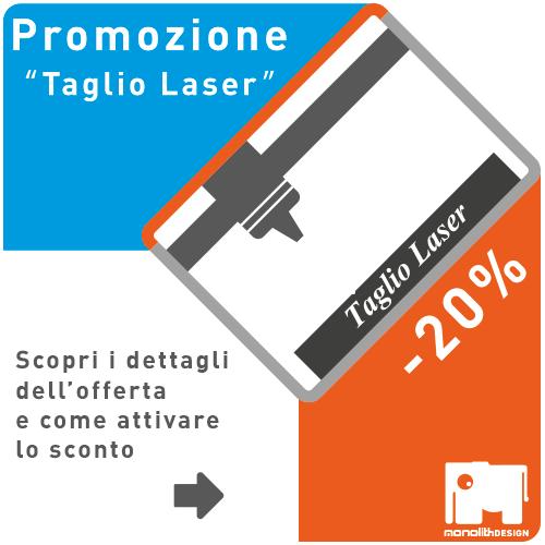 promozione taglio e incisione laser